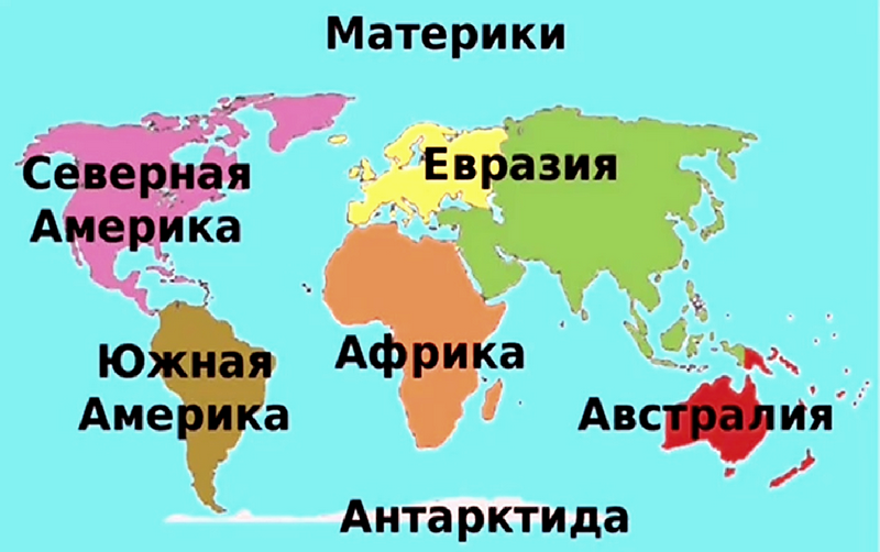 География материков и океанов