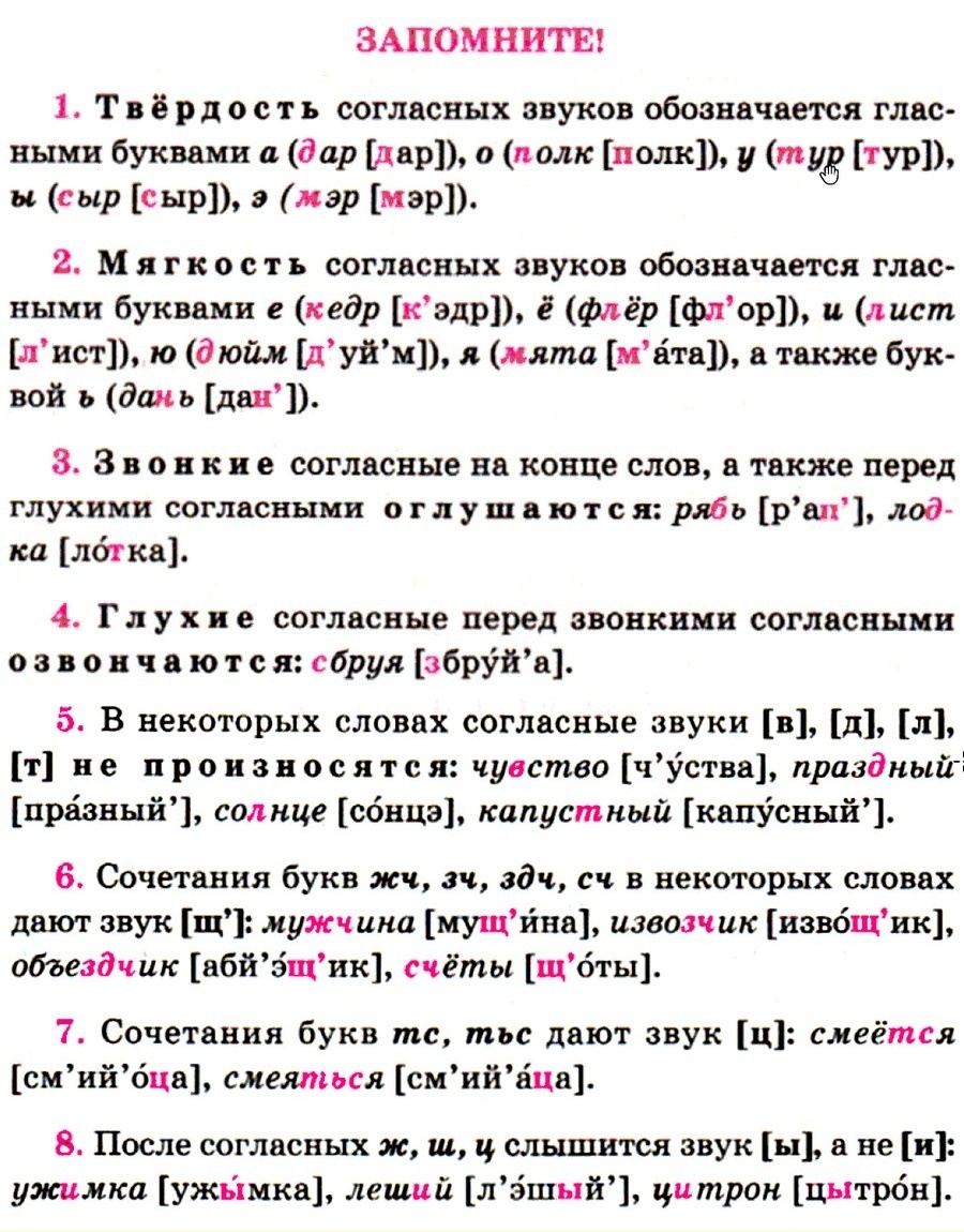 Характеристика букв и звуков