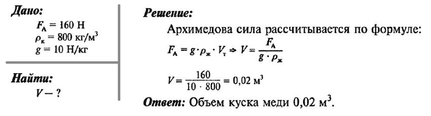 Задачи на решение архимедовой силы 8 класс при решении прямой геодезической задачи находя