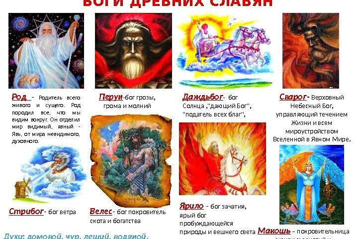 Народы на территории России. Боги древних славян