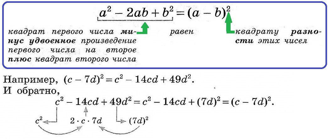 квадрат разности 2