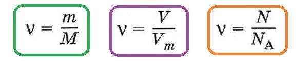 Решение задач на количество вещества, массу и объем