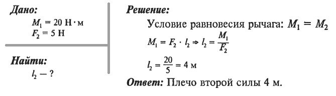 Решение задач на определение момента силы задача по физике с решением по динамике