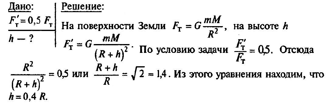 Урок решения задач закон всемирного тяготения решение задач 11 класс электромагнитные колебания