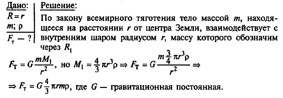Урок решения задач закон всемирного тяготения свойство жидкостей решение задач