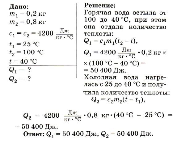 Физика теплообмен решение задач контрольная работа 2 класс по математике решение задач