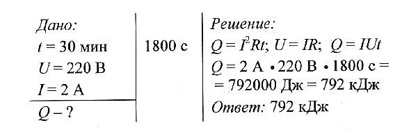 Закон джоуля задачи решения информатика формулы для решения задач 9 класс