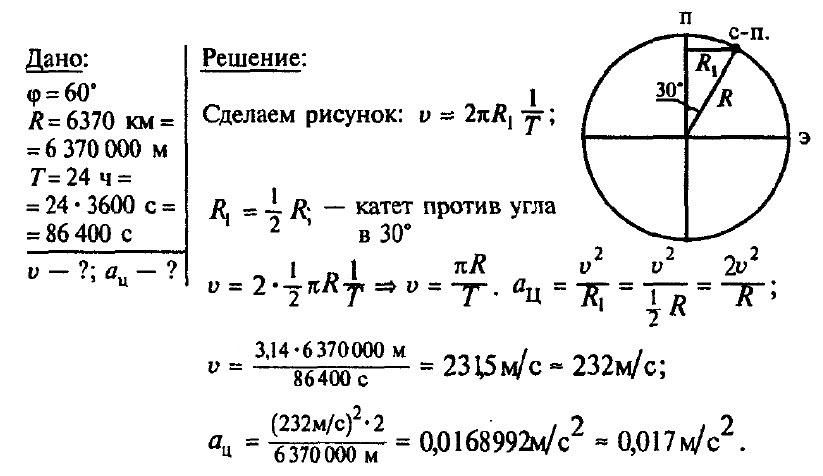9 класс решение задач движение по окружности решение задач по физике степанова 7 8