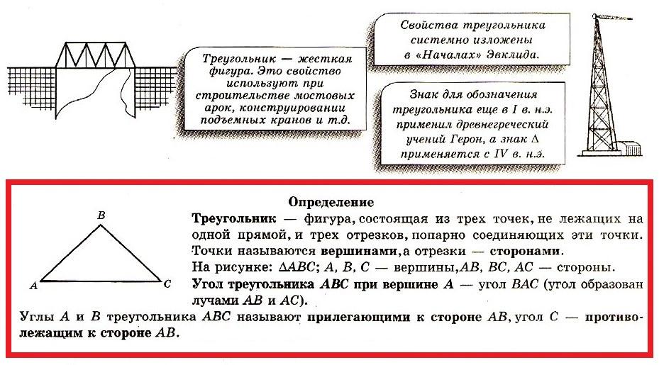 Треугольник определение