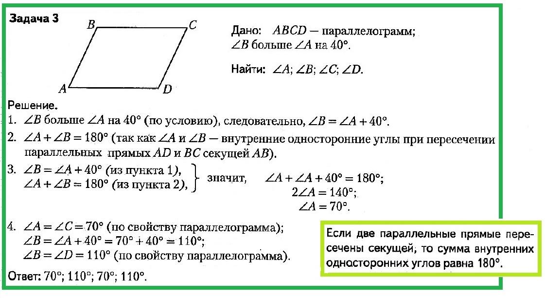 Виды решения задач по параллелограммам примеры решения задачи по бухгалтерскому учету