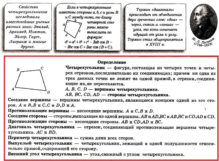 Четырехугольник Определение