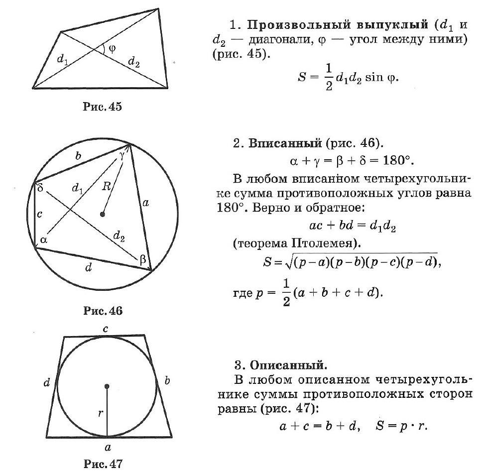 Краткий курс геометрии 8 класс