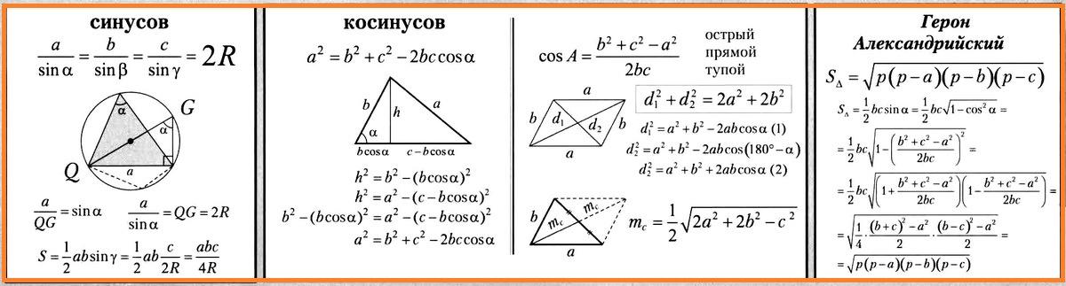 Решение задач по теореме косинусов 9 класс статистика задачи и решения демографическая