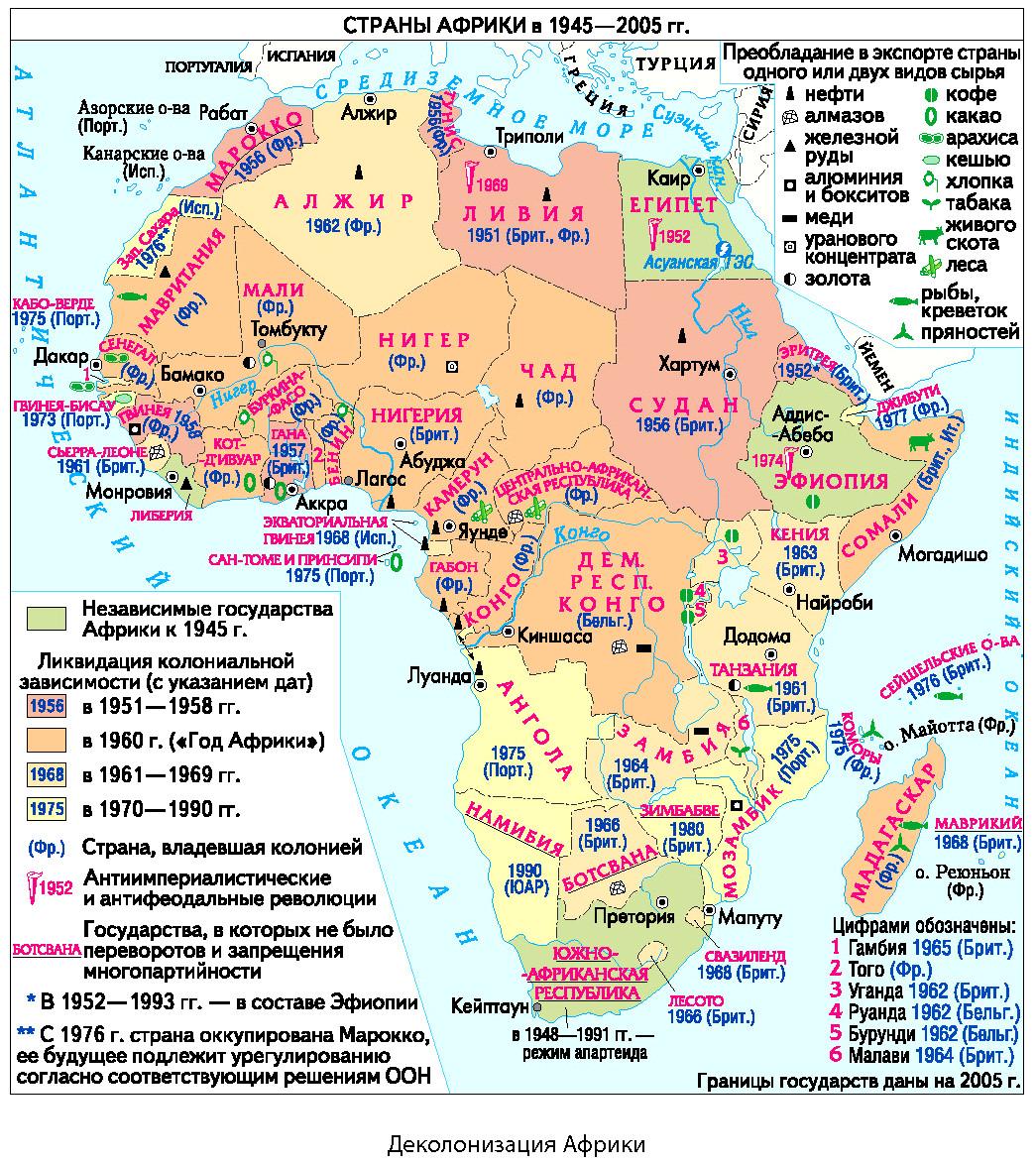 Распад колониальной системы. Африка
