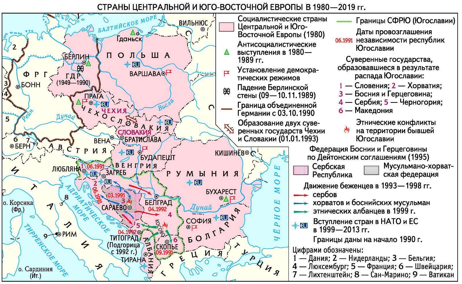 Восточная Европа во второй половине XX века