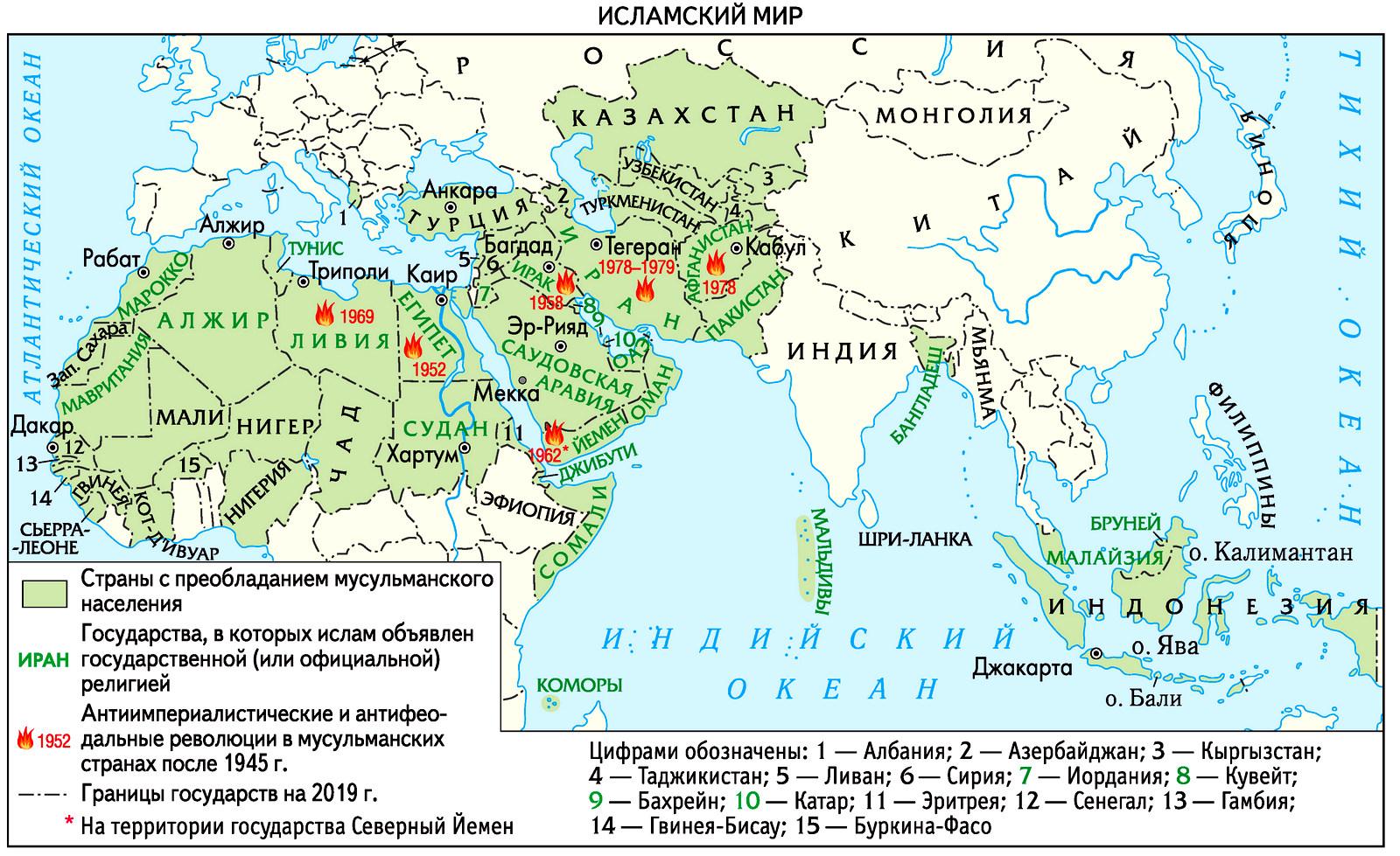 Мусульманский мир во второй половине XX века