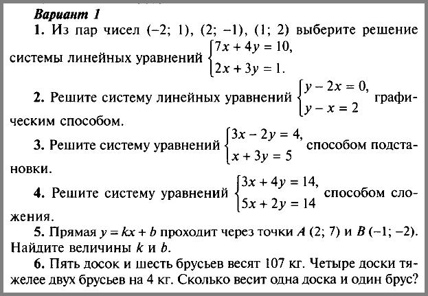 Алгебра 7 Макарычев К-9 Уровень 1