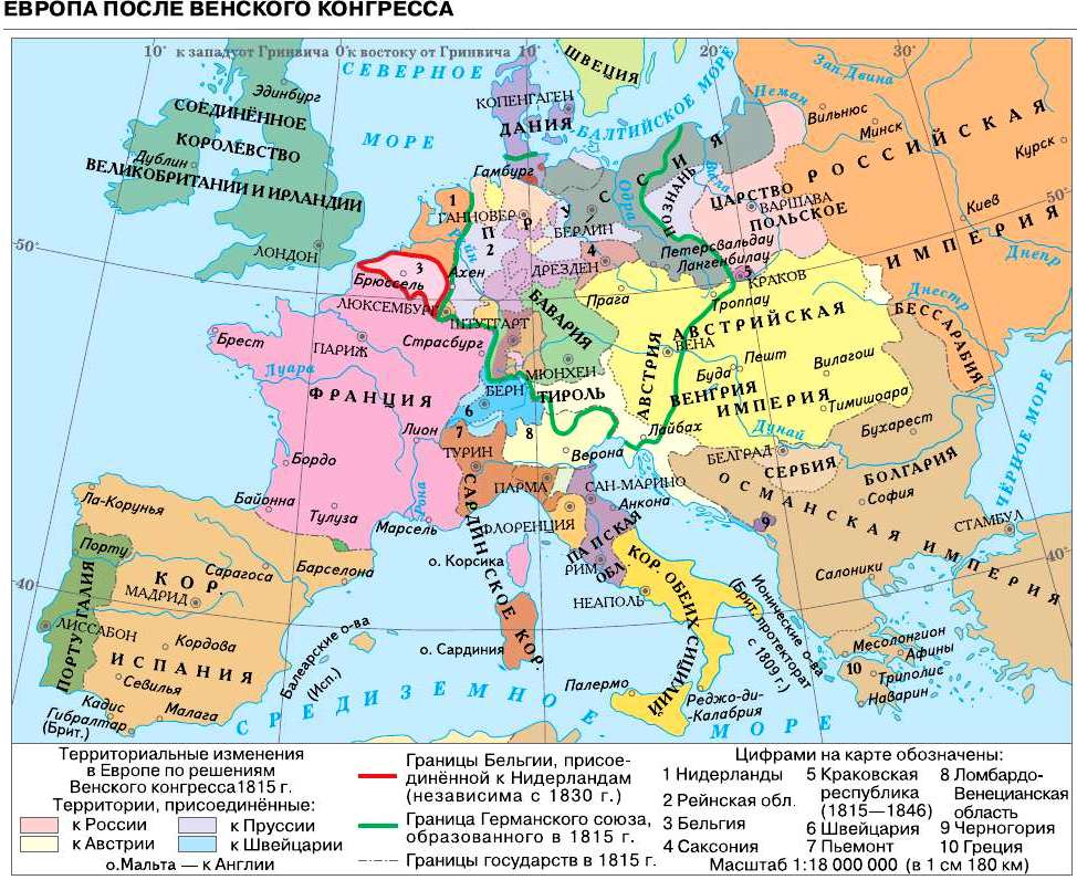 Международные отношения в 1815-1875 годах