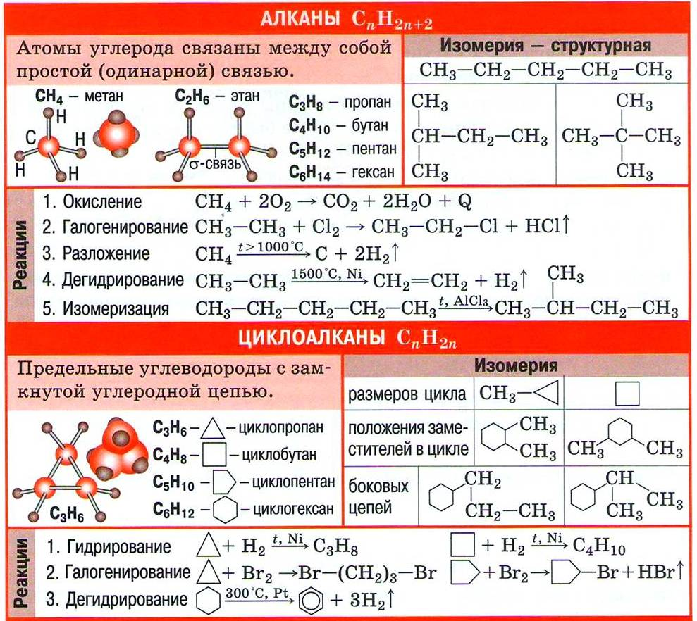 Предельные углеводороды. Алканы